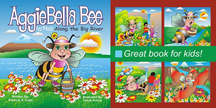 AggieBella Bee: Along the Big River - Sample pages